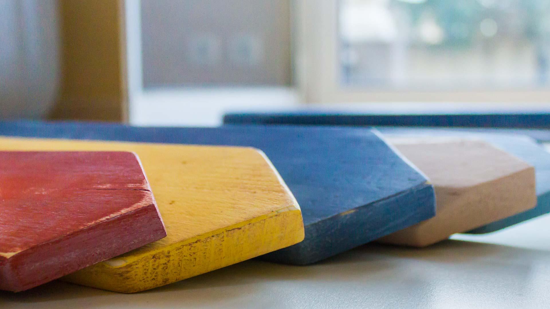 fabrication de panneaux de direction en bois de palettes